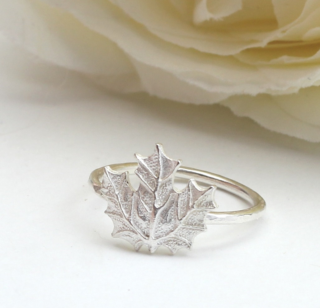 Maple Leaf Ring – Sterling Silver 925 Maple Leaf Ring ,small ring ...