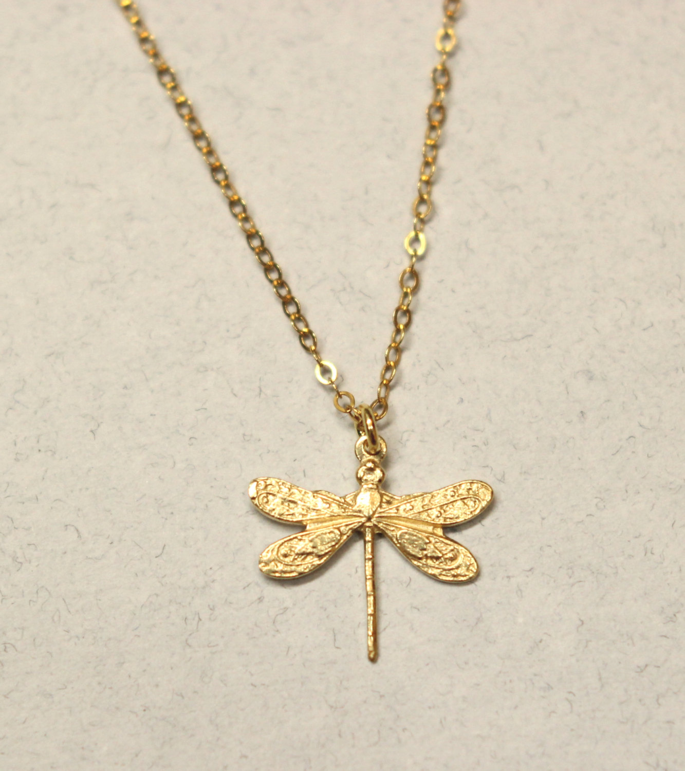 gold and hammeredgolddragonfly dragonfly necklace disc hammered