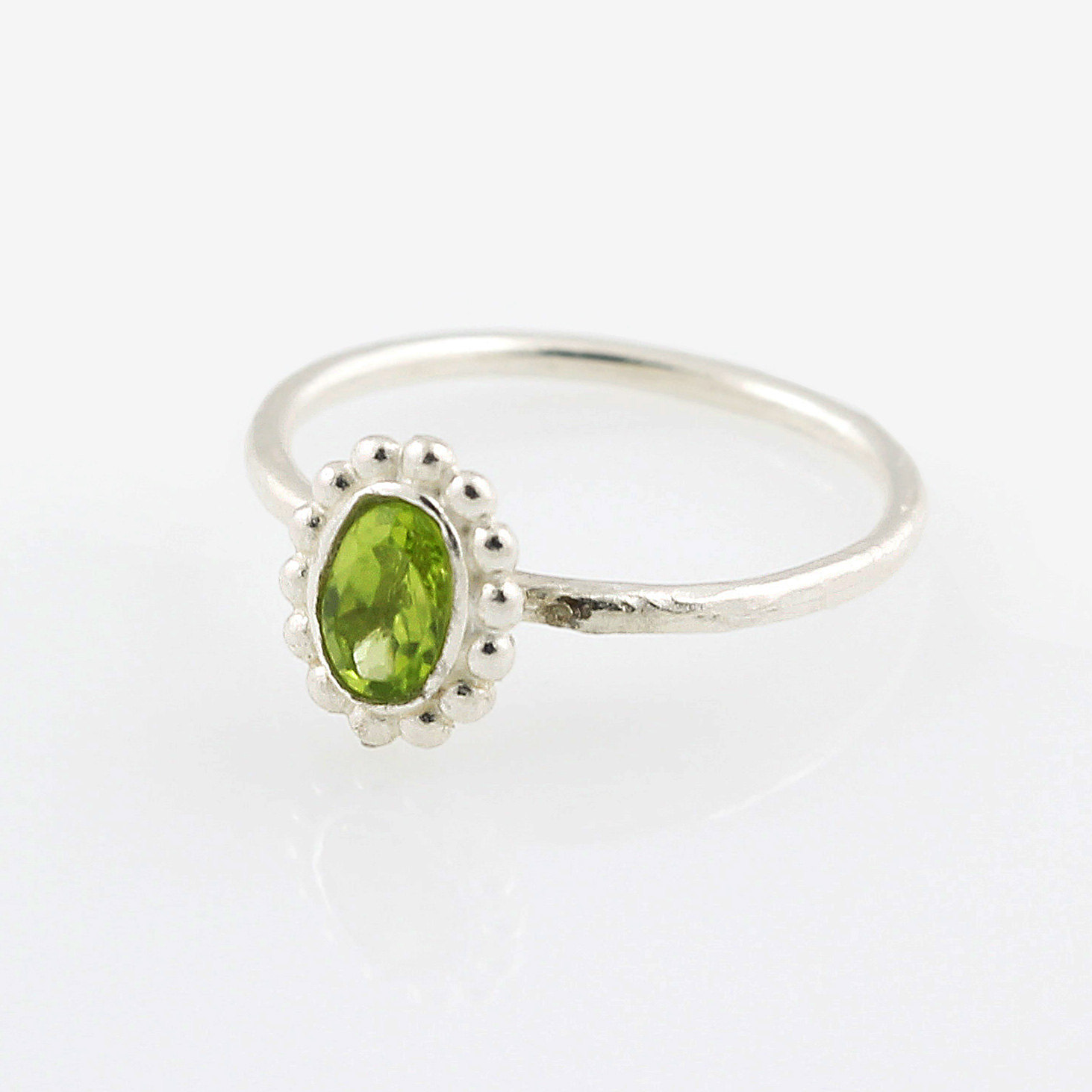 317faf4f306e5 925 sterling silver Beautiful delicate Natural Peridot ring, Stackable  Ring, stacking, august birthstone, birthstone rings